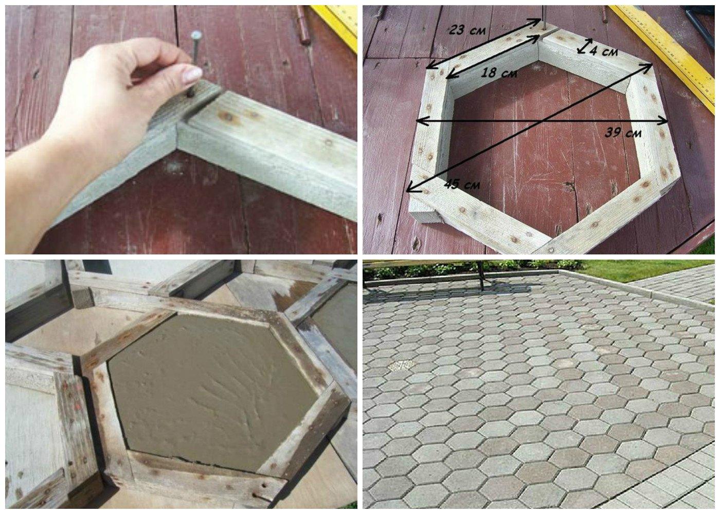 Как сделать форму для тратуарной плитки своими руками