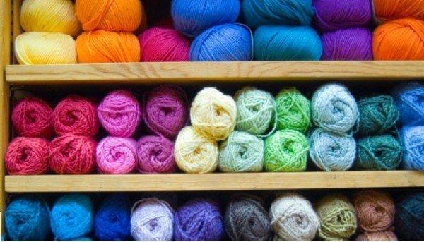 ассортимент пряжи для вязания