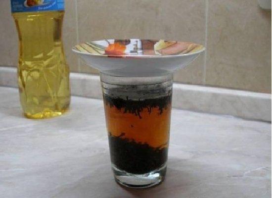 Чайная заварка в стакане