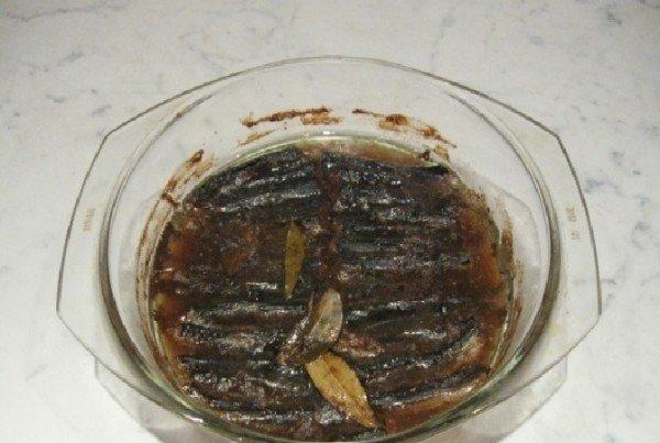 Готовые шпроты из салаки в духовке