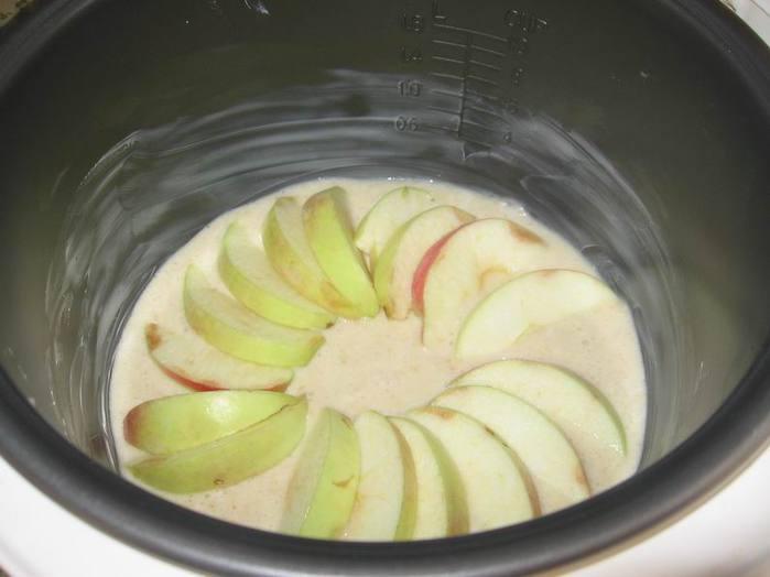 манник с яблоками рецепт с фото на молоке