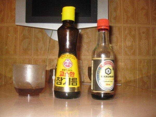 Мёд, соевый соус и кунжут