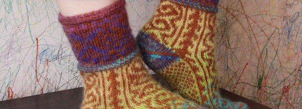 Вязание носков из домашней пряжи