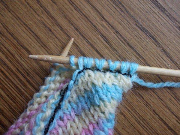 перенос петель со спицы на спицу