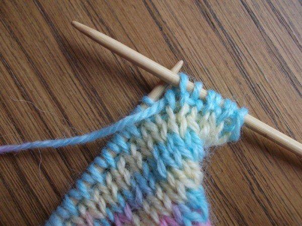 вязание бесшовного носка