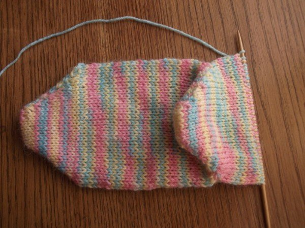 вязание носка до верха