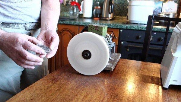 Заточить нож для мясорубки