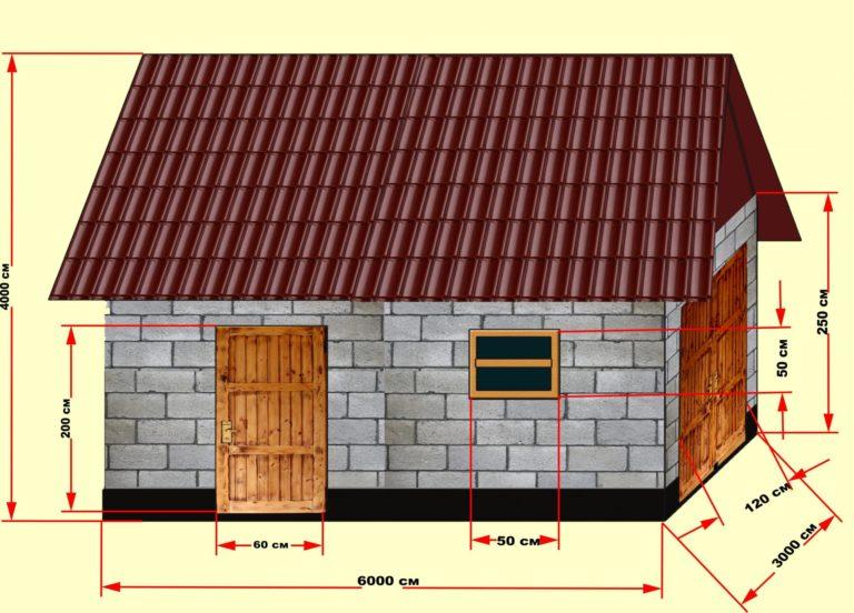 какая толщина стенок с газобетона для зимнего курятника