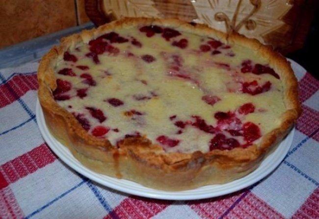 Пирог с малиной в духовке пошаговый рецепт