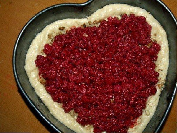 начинка из малины в пироге