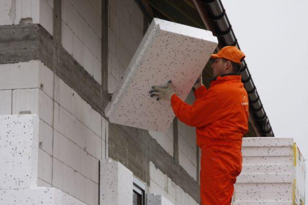 утепление наружных стен сарая пенополистиролом