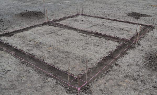 разметка участка под постройку сарая