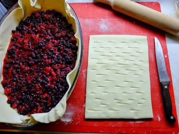 слоёное тесто и начинка для пирога