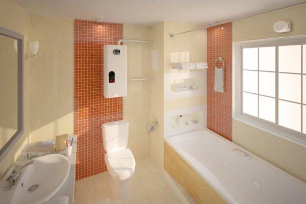 Электрокотёл в ванной