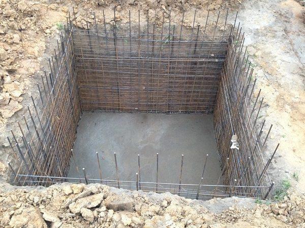 Сточная яма из бетона