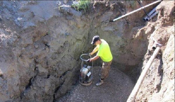 Строительство кирпичной выгребной ямы
