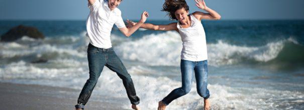 джинсы в море