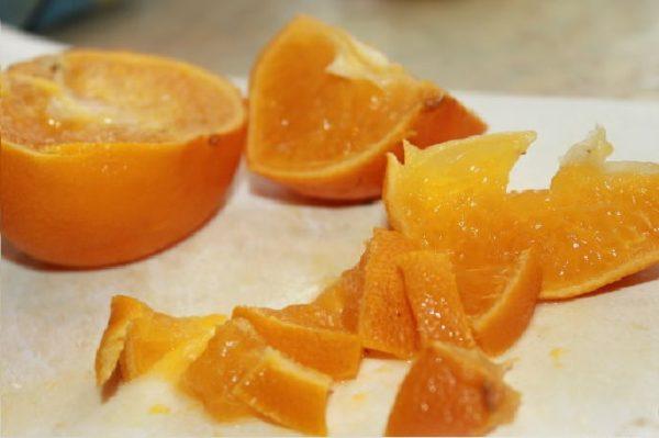 нарезанные мандарины