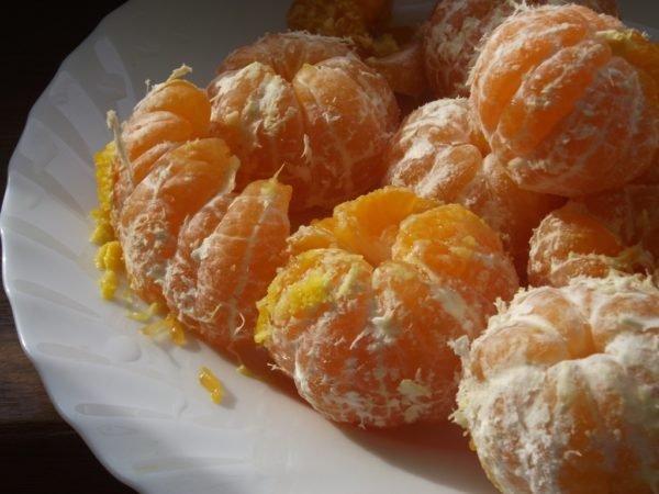 очищенные мандарины