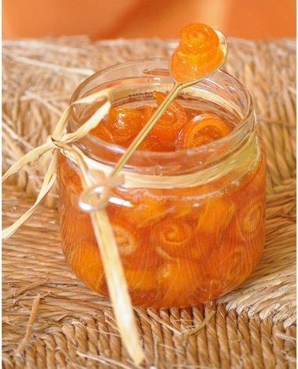 варенье из мандариновых корок-завитушек
