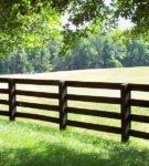 Деревянный забор в стиле «ранчо»