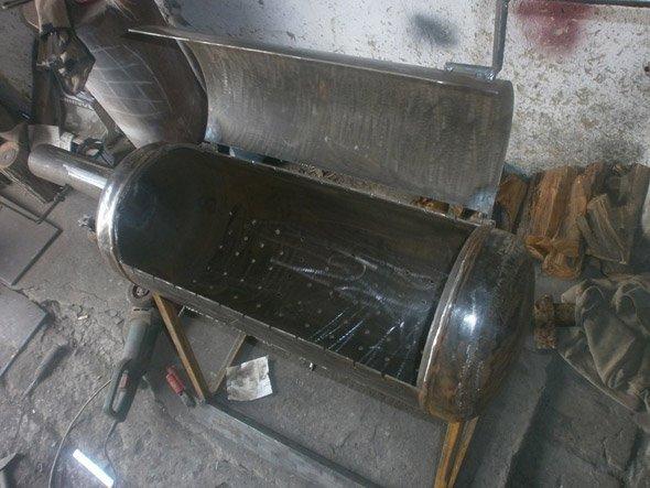 газовый баллон, переделанный в мангал