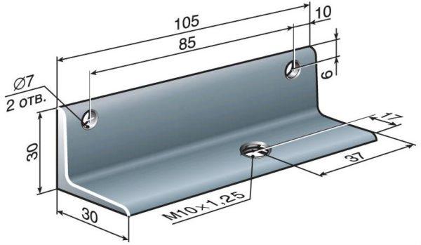 Металлический уголок для изготовления кронштейнов