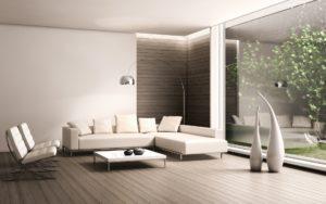 Дизайн современной гостиной с белой мебелью