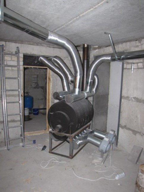 Булерьян, установка для отопления всего дома