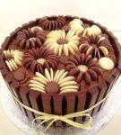 Шоколадные цветы из драже