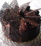 торт с ажурными треугольниками