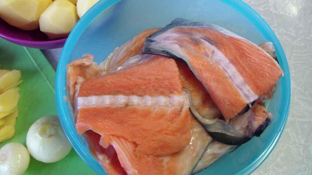 уха из лосося с фото рецепт