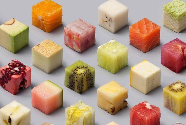 Кубики фруктов