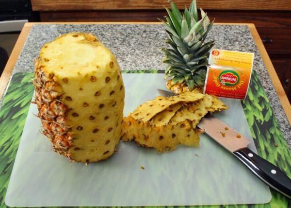 полуочищенный ананас
