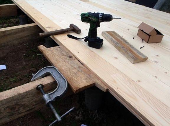 Этап создания деревянной беседки