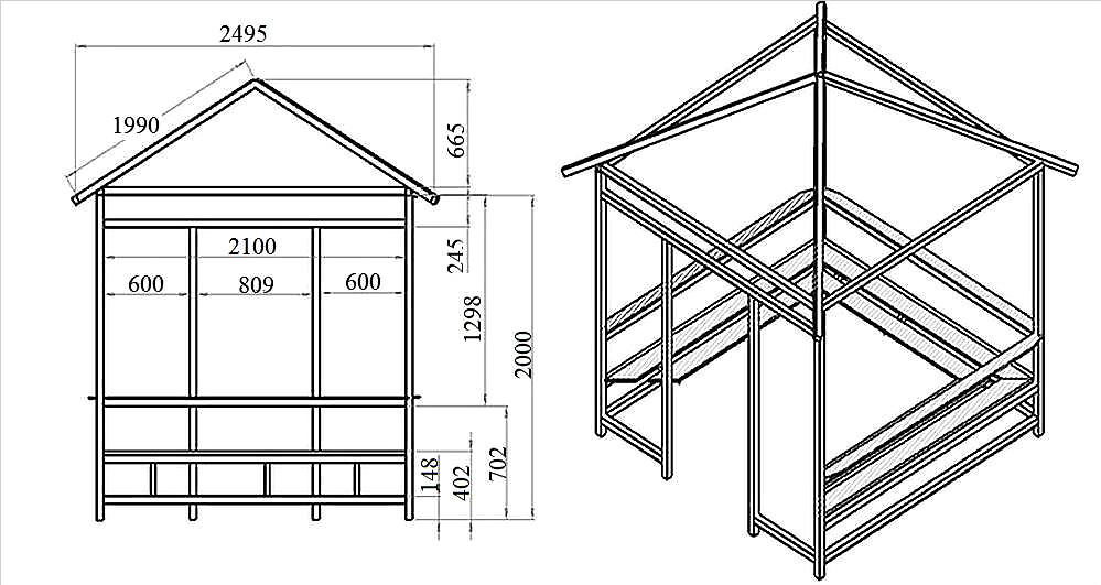 Строительство деревянной беседки своими руками пошагово