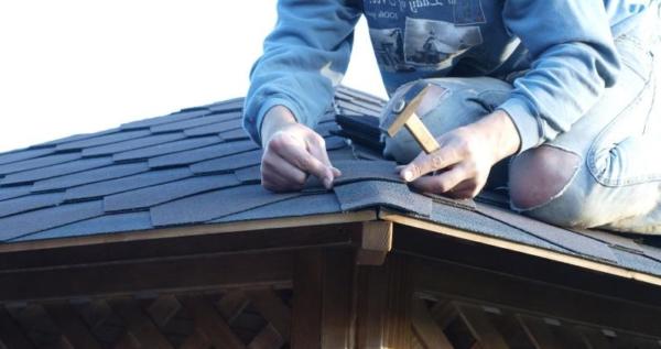 Этап создания крыши беседки (фото 6)