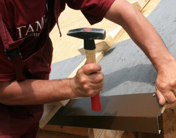 Этап создания крыши беседки (фото 5)