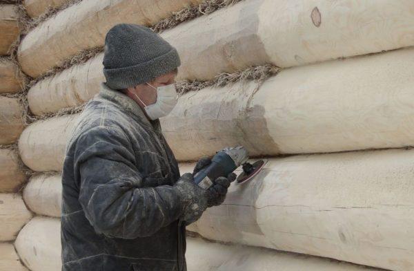 Обработка древесины болгаркой