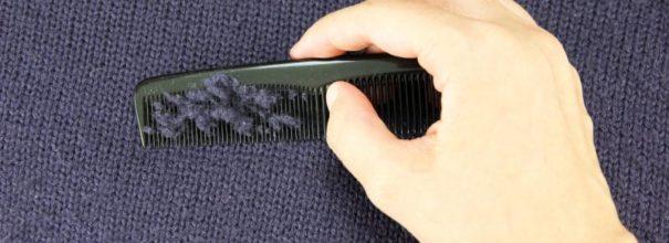 Удаление катышков расчёской