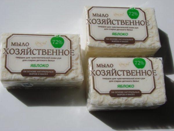 3 куска белого хозяйственного мыла