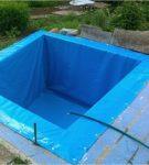 Бассейн в укрепленном котловане