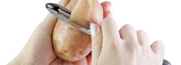 Чистка картошки