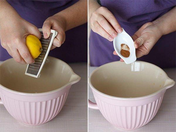 Лимонная цедра и молотая корица