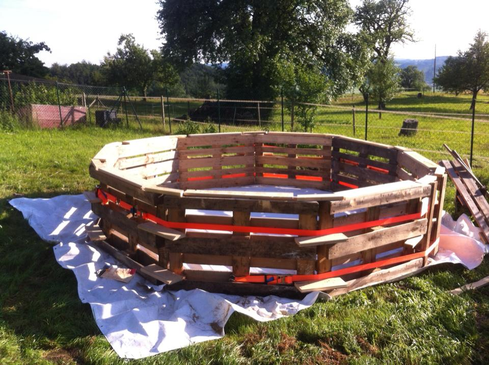 Сделать деревянный бассейн своими руками 962