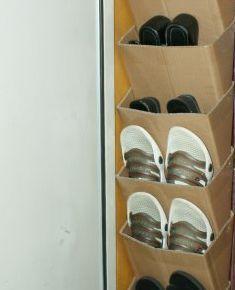 Подвесной картонный оганайзер для обуви