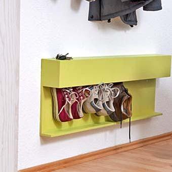 Полка для обуви со встроенными щётками