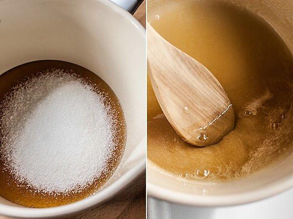 Приготовление сиропа из сахарного песка и натурального мёда