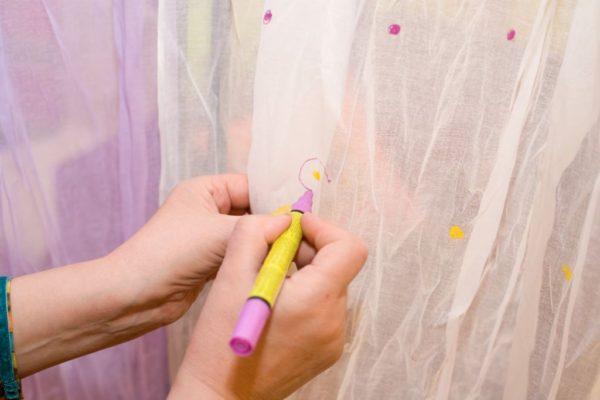 Рисование маркером по ткани