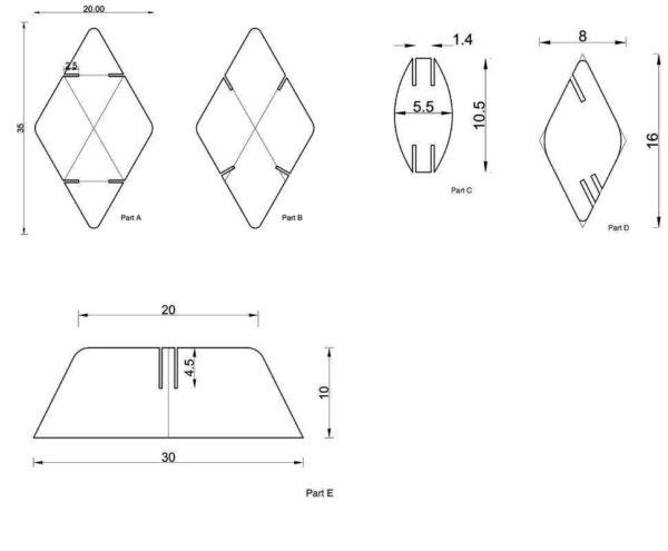 Схемы модулей для ширмы